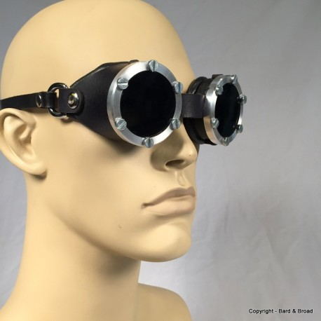 Mk 1 Aluminum Goggles with Leather Sides