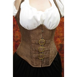 Buckled Leather Underbust Corset
