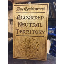 Acoorded Neutral Ground Sign